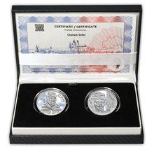 Chatam Sofer - návrhy mince 10 € sada Ag medailí 1 Oz Proof